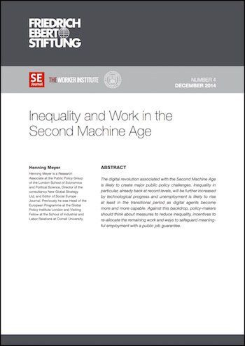 RE No. 4: Inequality And Work In The Second Machine Age
