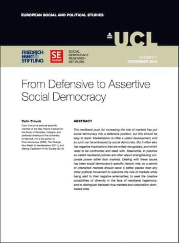 RE No. 1: From Defensive To Assertive Social Democracy
