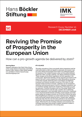 RE No. 10: Reviving the Promise of Prosperity in the European Union