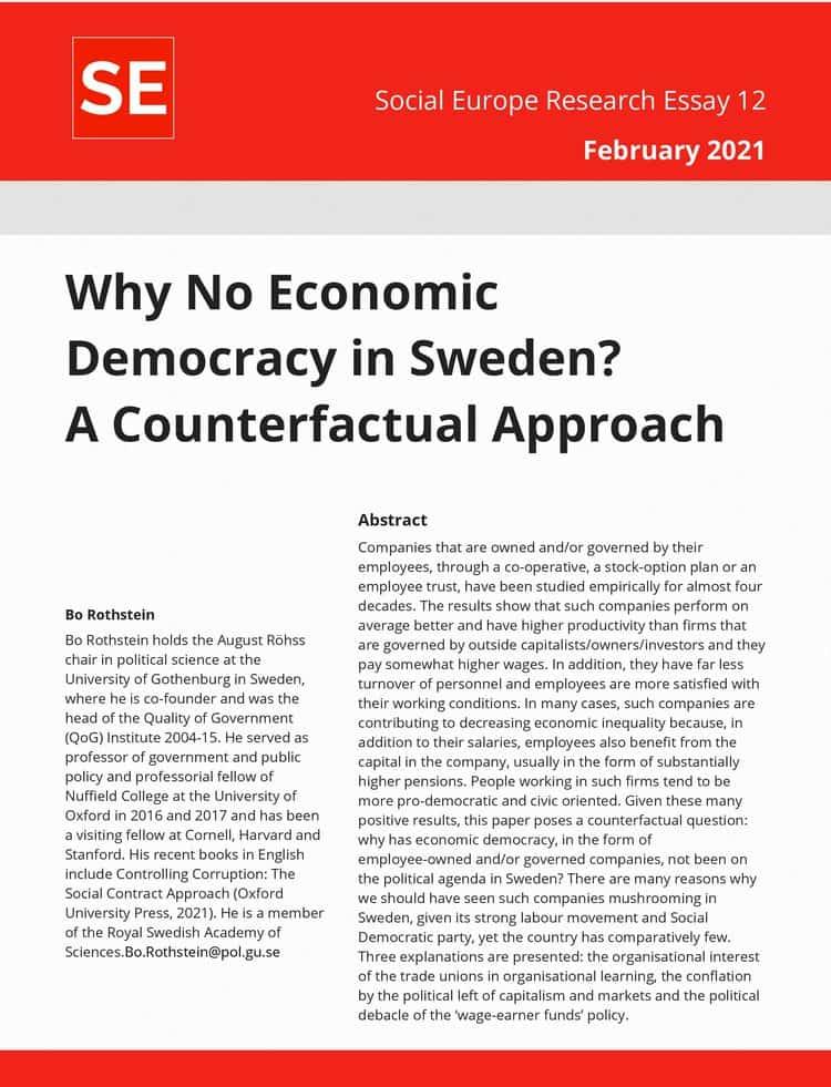 RE No. 12: Why No Economic Democracy in Sweden?